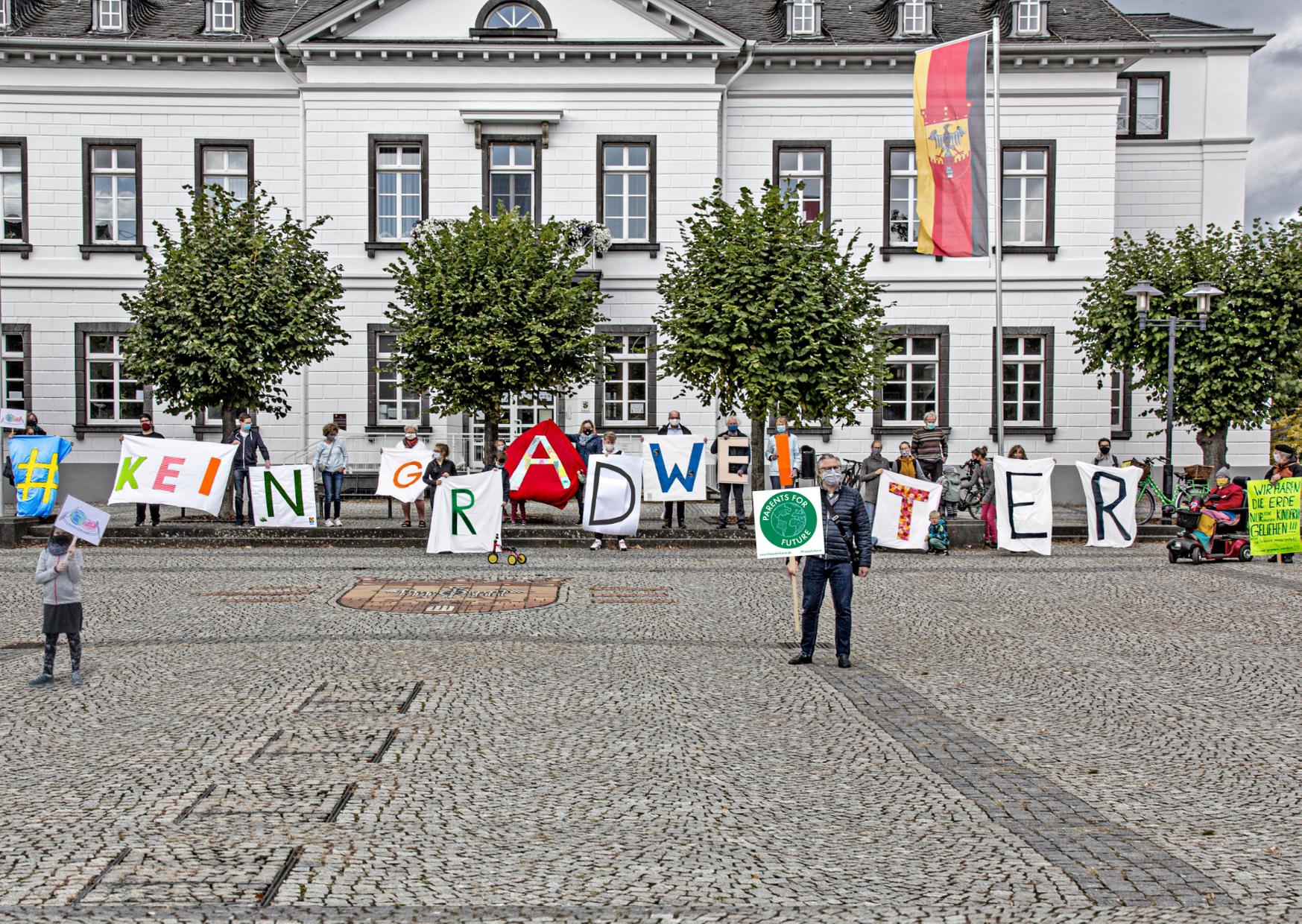 Fotoaktion Klimastreik Sinzig, 25.09.20204Future,